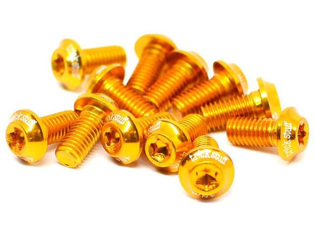 Tr!ckstuff erityiskevyt jarrulevyruuvi alumiini, M5x10 T20, 12 kpl , kulta